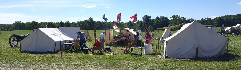 The company's encampment at Gettysburg on the 1st, 2nd and 3rd of July 2016